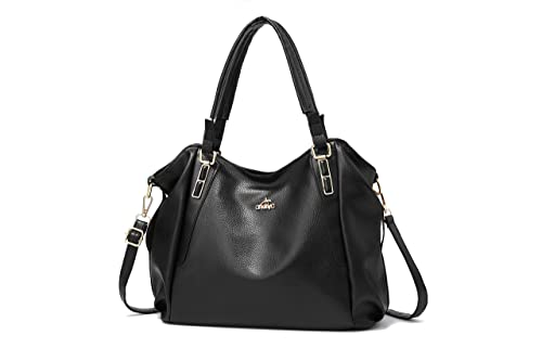 4060a501d354c Andrya Women Leather Handbags Purses Top Handle Cross Body Shoulder Bags  Satchel Bags for Ladies Black