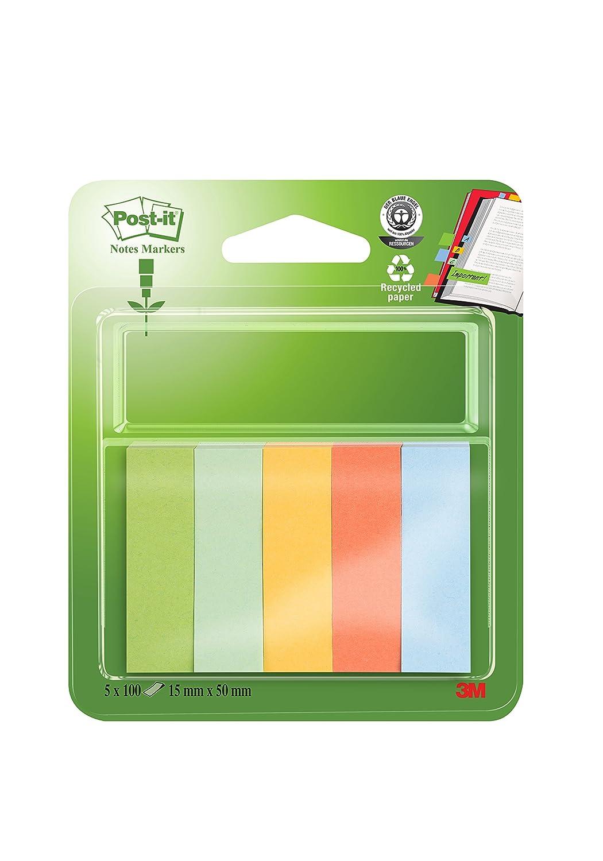 Post-It 670-5-R Notes Markers, 15x50 mm, Confezione 5 3M Italia