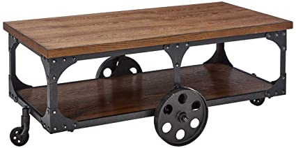 Merveilleux Coaster Home Furnishings Coffee Table With Casters Rustic Brown