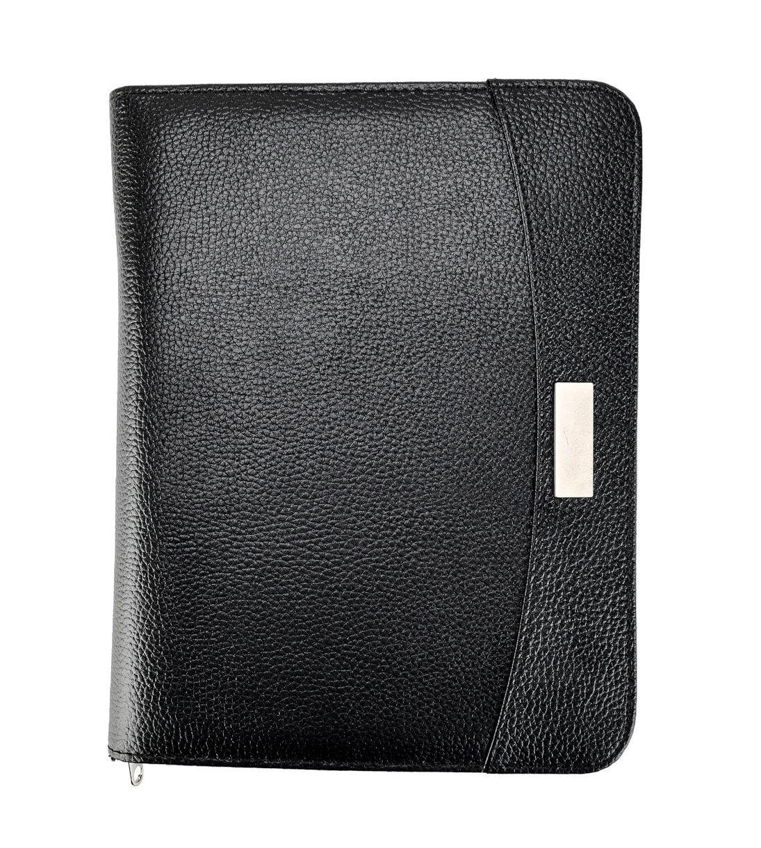 Arpan A5 Zipped Business Executive Conference Folder With Calculator & Pad Ring Binder Portfolio - Black CL-9584
