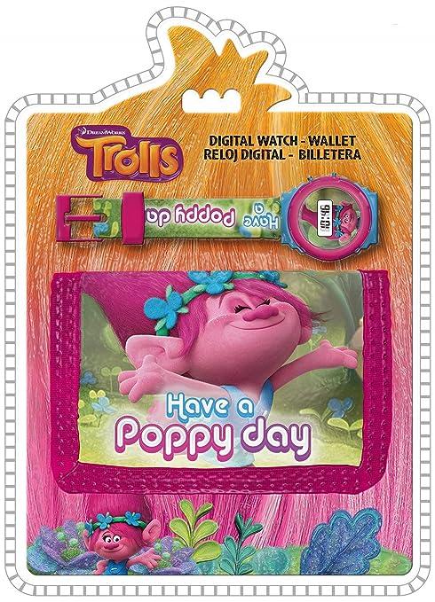 Amazon.com: Original Trolls Digital Watch+Wallet,Official Licensed,Children Gift Set: LuvToBuy Ltd