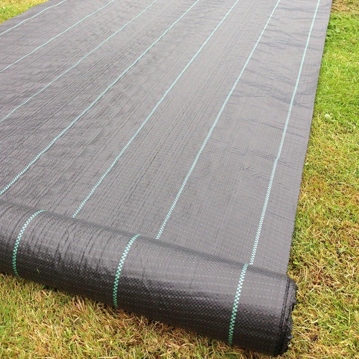 Yuzet 2m x 50m 100gsm Heavy Duty Weed Control Fabric