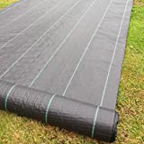 Yuzet 3 x 10 m 100 g Heavy-Duty Weed Control Ground Cover Membrane Landscape Fabric