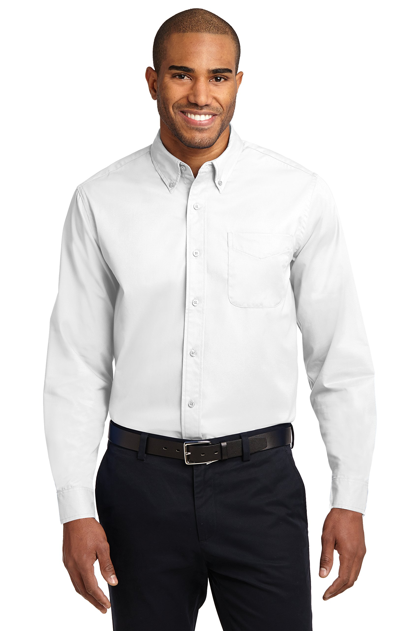 Port Authority Easy Care Men Dress Shirts Long Sleeve – 55/45 PolyCotton – 3XL Tall