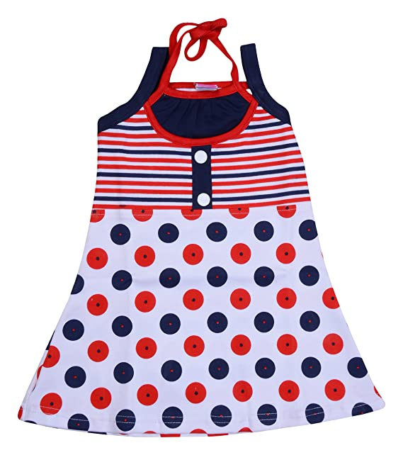 27eb61a8e1 Little Prince Baby Girls' Frock (Red, 1-2 Years, 82): Amazon.in: Clothing &  Accessories