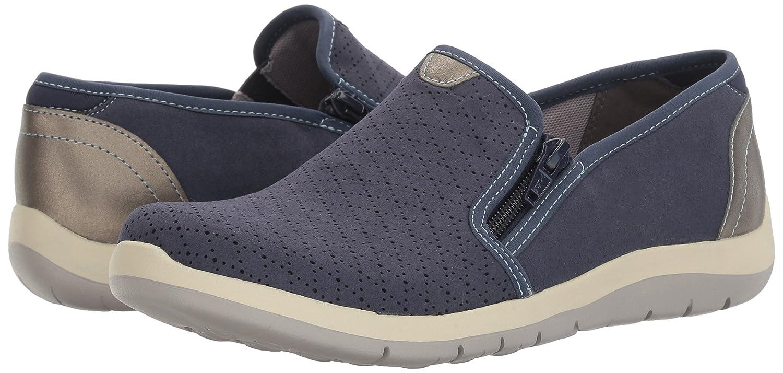 Aravon Womens Wembly Side Zip Fashion Sneaker