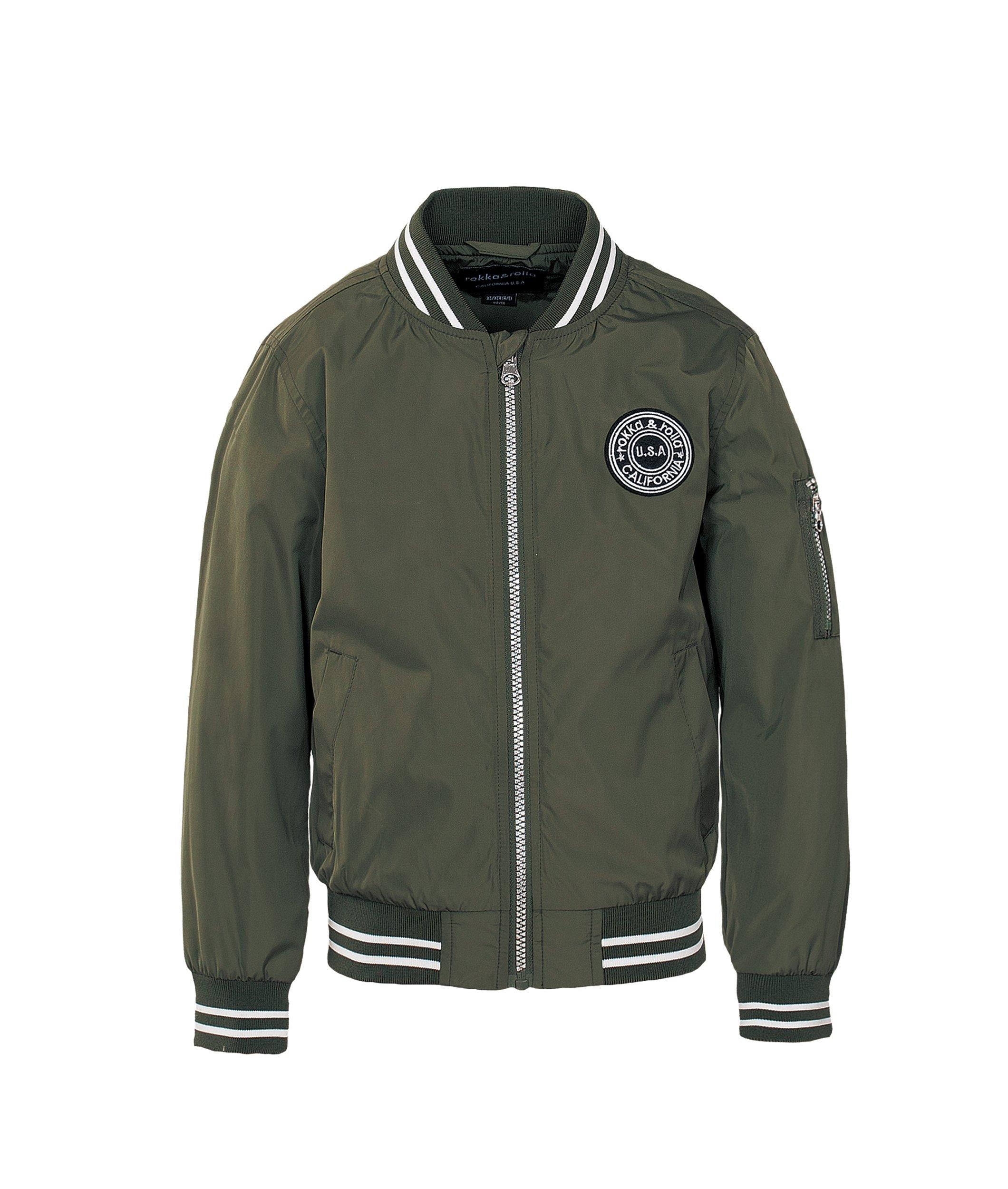 Rokka&Rolla Boys' Zip up Lightweight Casual Fashion Wind Flight Bomber Jacket