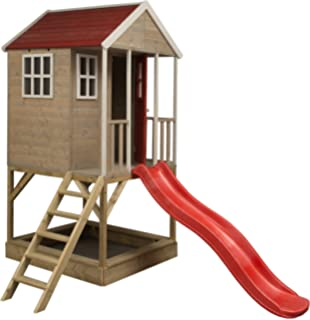 Wendi Toys Kinder Spiel Haus Auf Plattform Mit Schaukeln Holz