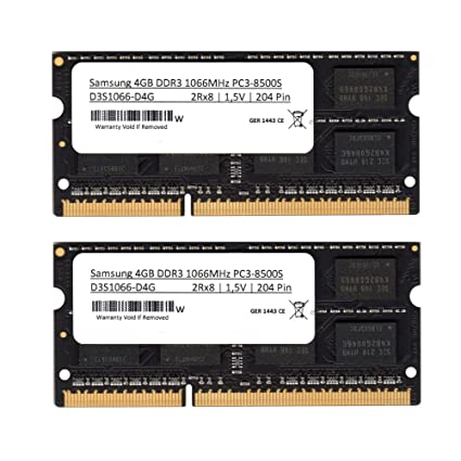Samsung 3rd 8 GB (2 x 4 GB) Kit DDR3 1066 MHz (PC3