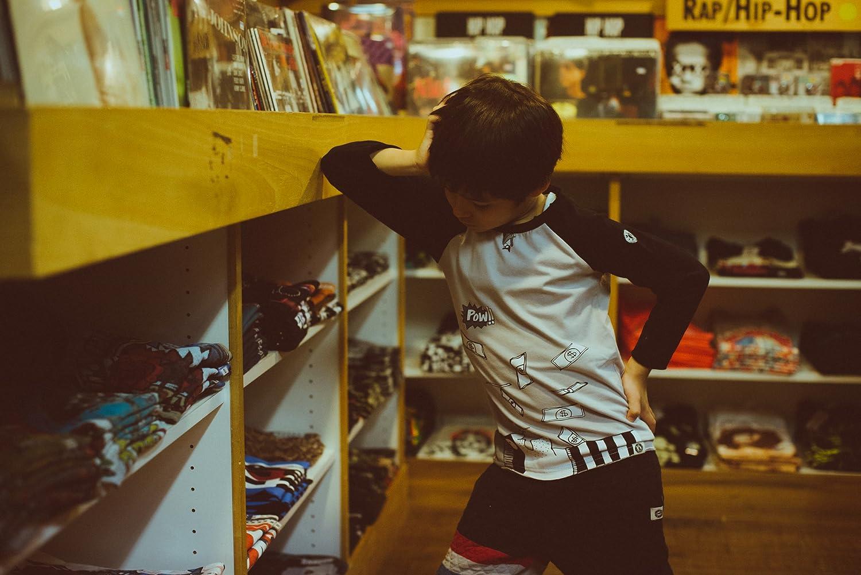 Mini Shatsu Little Boys Bat and Robin Raglan Shirt