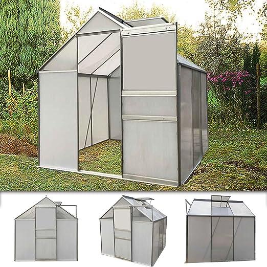 Serre de jardin polycarbonate aluminium légume plante jardinage 5,85 m³