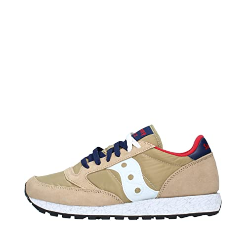 new style fe1be 37831 Saucony Jazz Original Tan Red Blue S2044-518: Amazon.co.uk ...