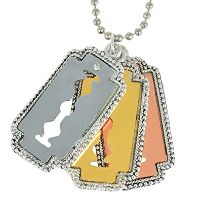 Memoir three colour tone 3 blade design macho locket chain pendant memoir three colour tone 3 blade design macho locket chain pendant necklace jewellery for men thecheapjerseys Image collections