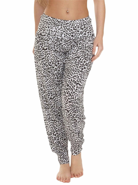 Love My Fashions Mujer Liso - Azteca - Teñido - Leopardo - Guepardo - Calavera - Camuflaje - Estampado animal Largo y 3/4 Pantalones Harén Ali Baba Talla Grande S M L XL XXL XXXL