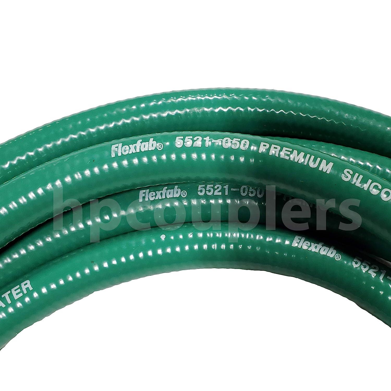 FlexFab 1//4 ID x 5 ft 5521 Green Premium Silicone Heater Hose 6mm J20R3 Class A 350F Radiator Coolant P//N 5521-025