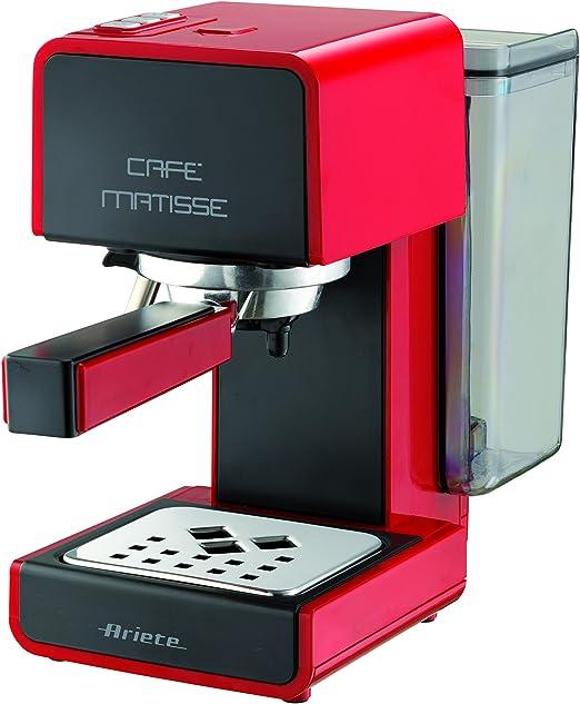 Ariete 1363/11 Matisse - Cafetera de espresso, 900 W, 0.8 l, 15 bares de presión, función de espera, color rojo: Amazon.es: Hogar