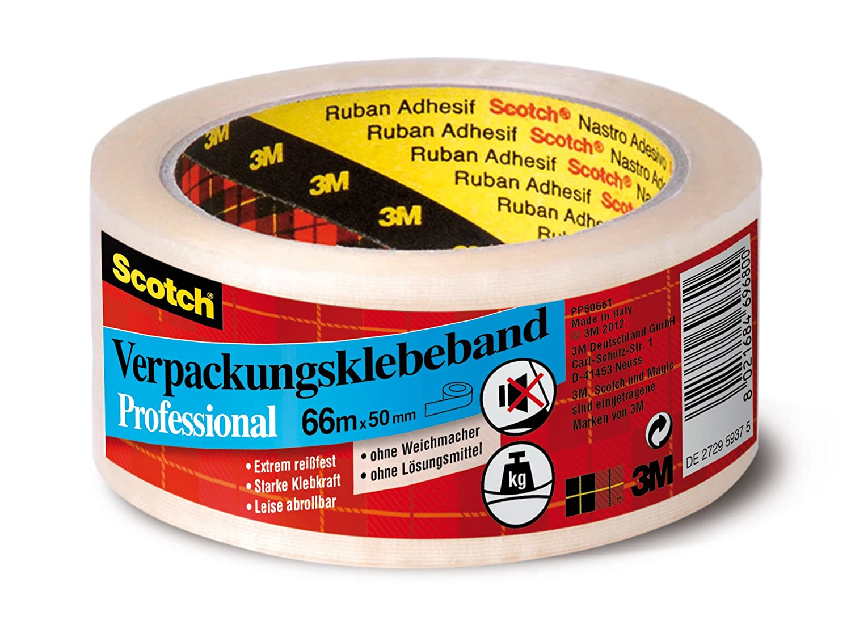 3M Scotch Ruban Adhé Sif d'Emballage Pp 50 Mm X 66M, 3M Deutschland GmbH PP5066T