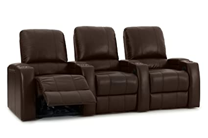 Charmant Octane Storm XL850 Home Movie Theater Chairs   Brown Premium Leather    Motorized Recline   Straight
