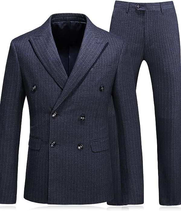 2019 Hohe Qualität Zweireiher Männer Anzüge Mode Streifen Männer Slim Fit Business Hochzeit Anzug Männer S Zu 5xl Anzüge jacke + Weste + Hosen