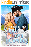 Don't Fall for the Small Town Cowboy: A Clean Mail Order Bride Romance (Take My Advice Book 3)