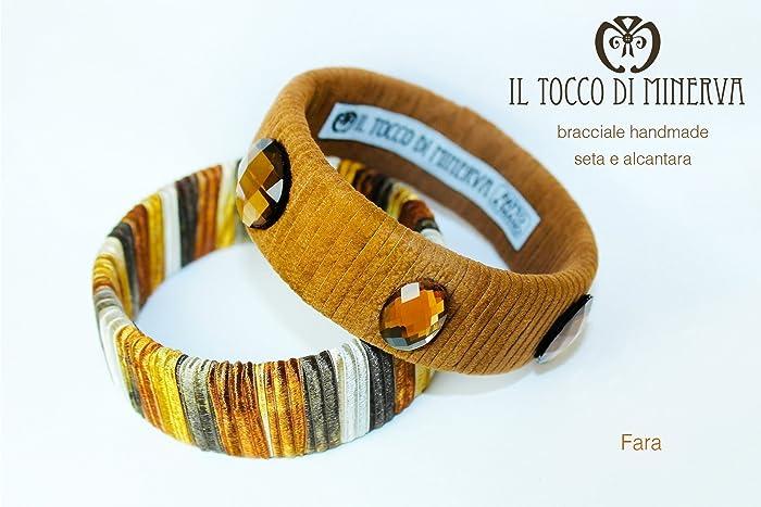 Armbänder brauner Seide und Alcantara Fara handgefertigt Made in ...