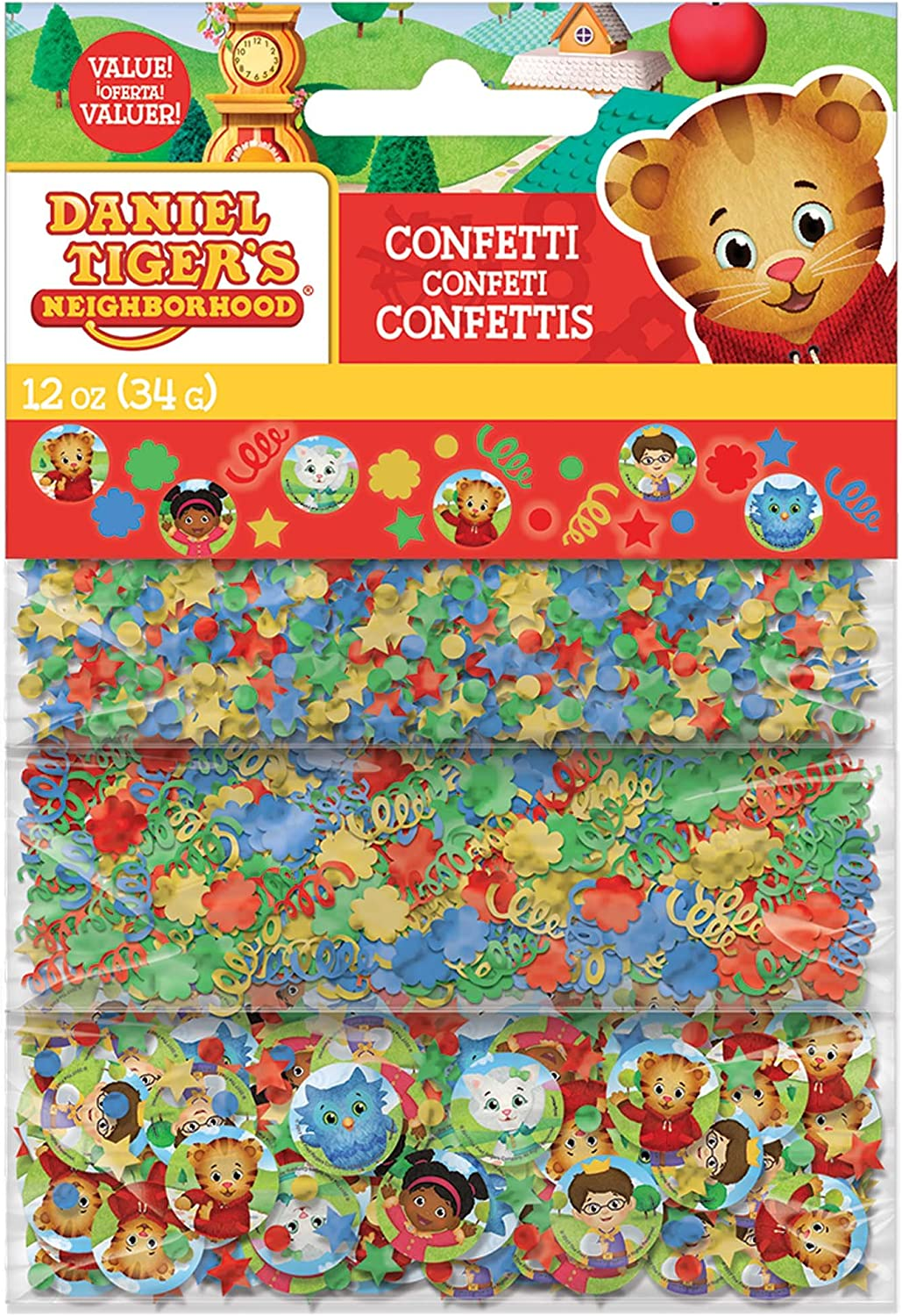 BirthdayExpress Daniel Tiger Party Supplies 8 Pack Cone Party Hats