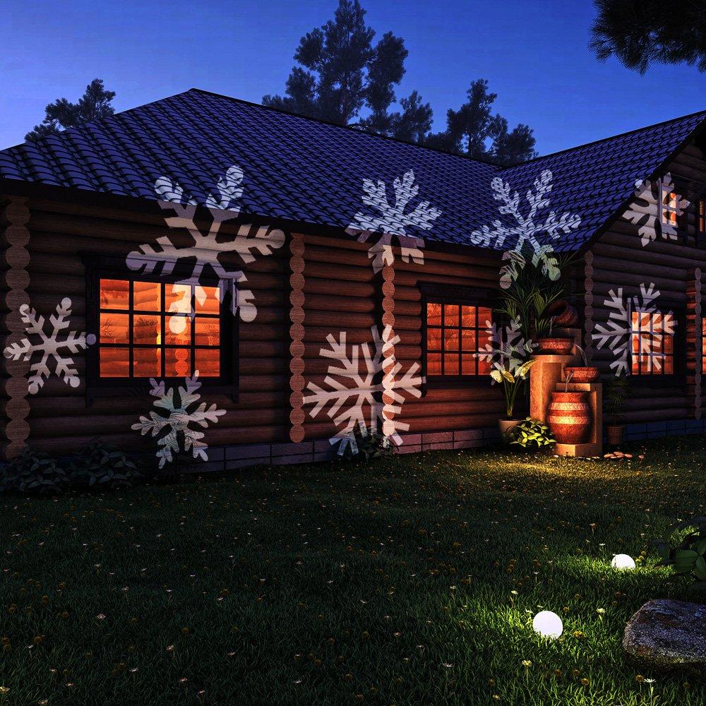 Amazon.com: LED Projection Light,CrazyFire White Snowflakes ...