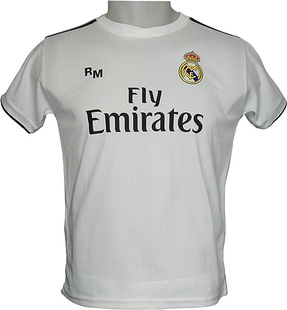 Real Madrid FC Camiseta Infantil Réplica Oficial Primera Equipación 2018/ 2019 (14 Años): Amazon.es: Deportes y aire libre