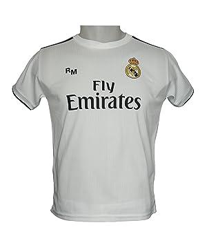 Real Madrid FC Camiseta Infantil Réplica Oficial Primera Equipación 2018/2019: Amazon.es: Deportes y aire libre