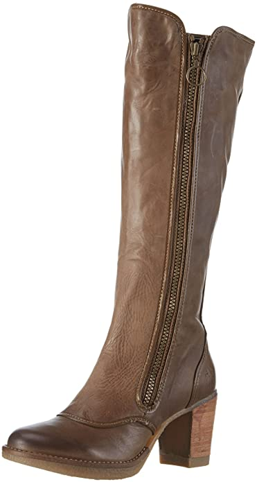 Fly London Hock Womens Knee Length Boots Beige Taupe 007 25