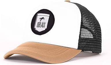 Oblack Gorra Trucker Beige Dallas Beisbol Ajustable con Visera Acolchada y Rejilla Negra - Gorras de Hombre: Amazon.es: Ropa y accesorios