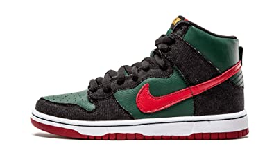 640344b3e738 Nike Mens Dunk High Premium SB RESN Deep Forest Paprika Synthetic  Skateboarding Size 11.5