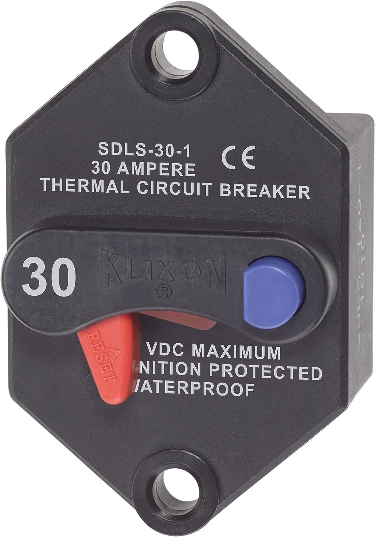 Blue Sea Systems 187 Series 285 Series /& Klixon Circuit Breakers 7187