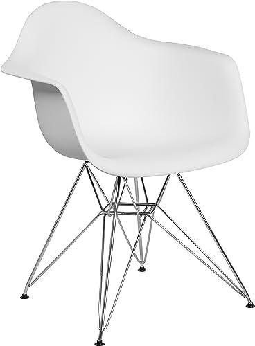 Flash Furniture Alonza Series White Plastic Chair