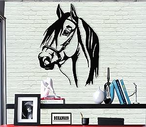 "Metal Wall Art - Horse Head - 3D Wall Silhouette Metal Wall Decor Home Office Decoration Bedroom Living Room Decor Sculpture (21"" W x 30"" H/53x76cm)"