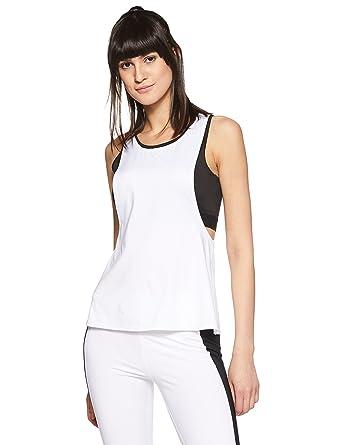 63a85c9d19763 Just F by Jacqueline Fernandez Women s Plain Regular Fit Vest Top  (16510 White X-Large)