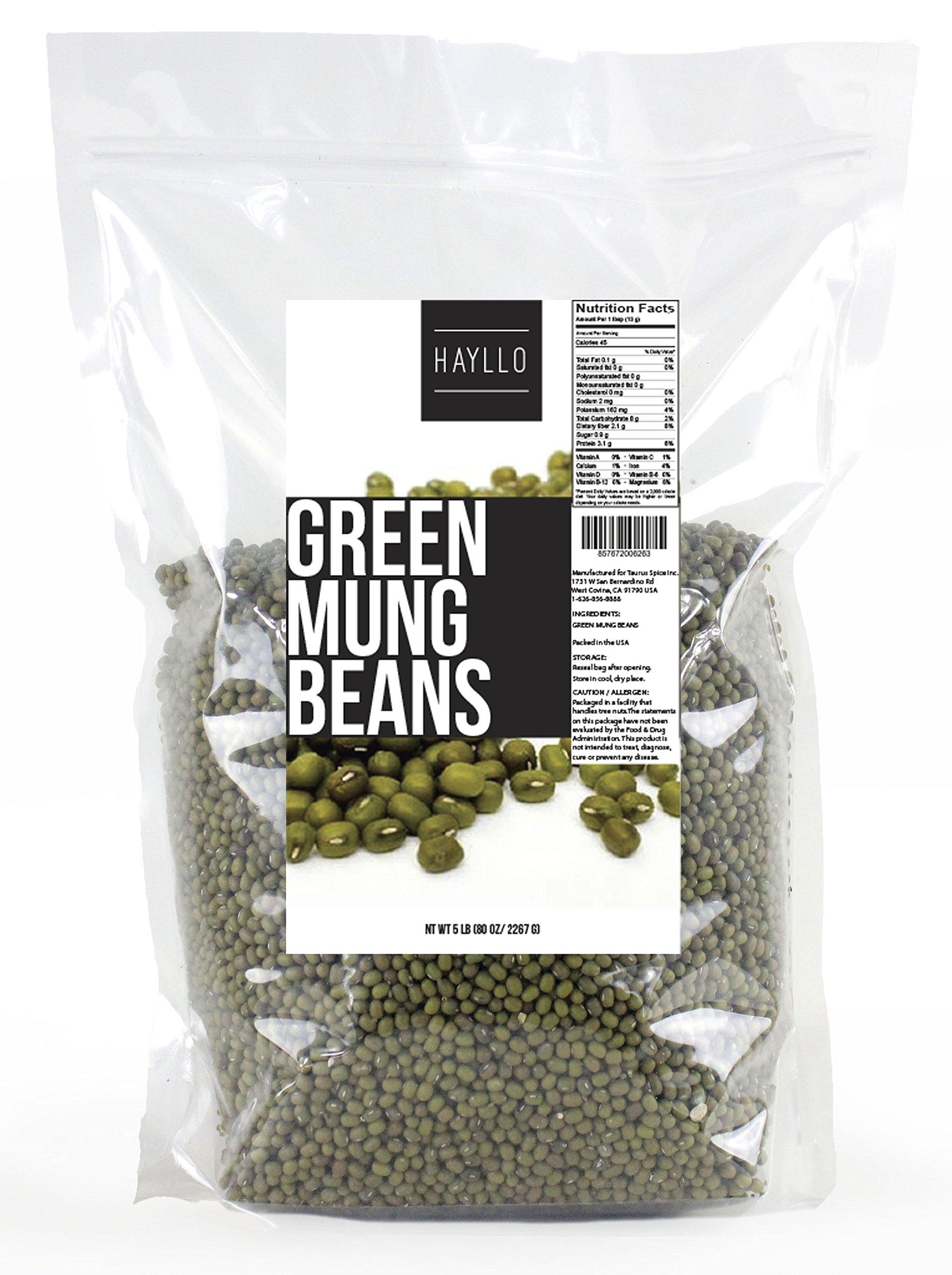 Hayllo Green Mung Beans , 5 Pound