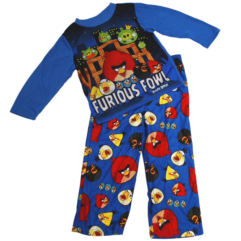 Angry Birds Boys 4-12 Angry Birds Furious Fowl Poly Pajama Set