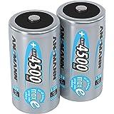 ANSMANN Akku Batterien Baby C 4500mAh 1,2V - Wiederaufladbare Batterien C NiMH mit geringer Selbstentladung & hoher Langlebigkeit - maxE Akkus ideal für Spielzeug Taschenlampe Radio uvm - 2 Stück