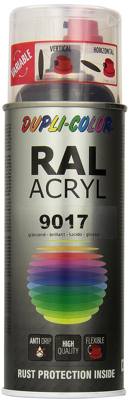 Dupli-Color 349812 Ral 9017 Acryl-Spray, 400 ml, Black Shiny