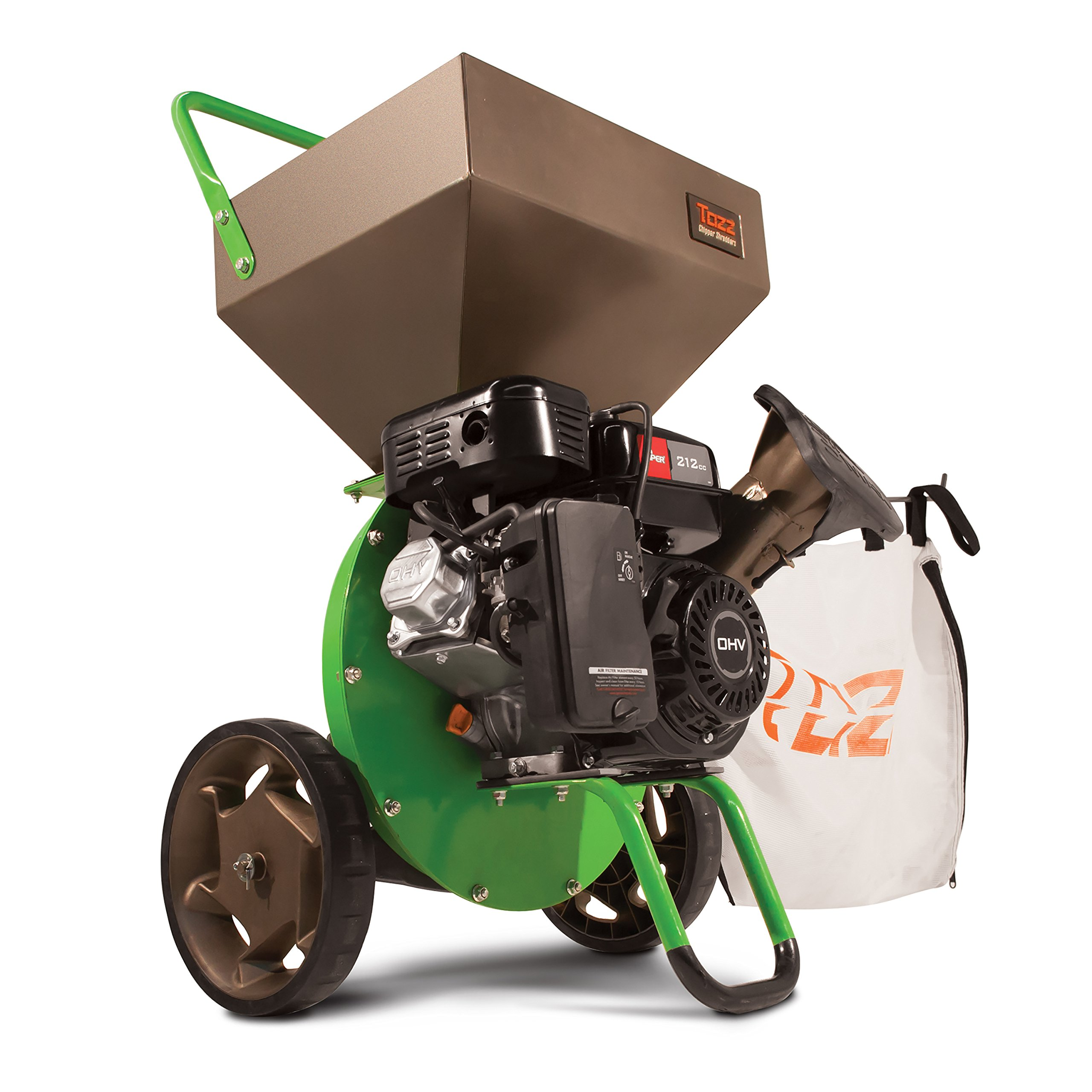 Earthquake TAZZ 30520 Heavy Duty 212cc Gas Powered 4 Cycle Viper Engine 3:1 Capable Multi-Function Wood Chipper Shredder 3'' Max Wood Diameter Capacity, 5 Year Warranty