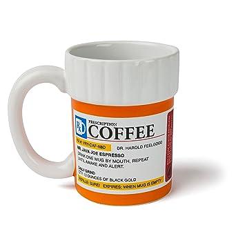 prissy ideas his and her coffee mugs. BigMouth Inc The Prescription Coffee Mug  Ceramic Funny Gift for the Caffeine Lover Amazon com