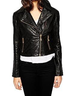 New Women Genuine Real Leather Jacket Ladies Slim Fit Biker Coat LTN597