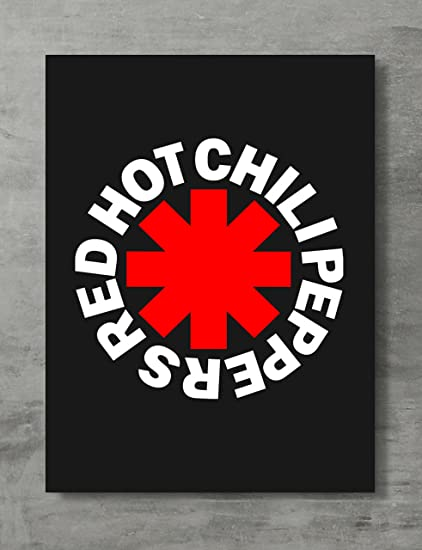 Amazon Com Applepie Red Hot Chili Peppers Logo Poster High