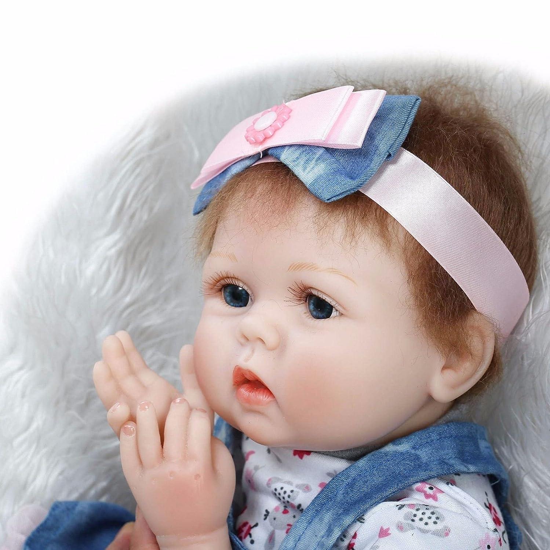 22 Inch Lifelike Reborn Baby Doll Handmade Real Looking Newborn Girl Toddler