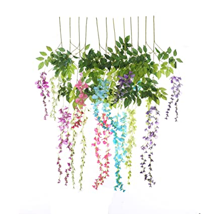 Amazon Felice Arts Artificial Flowers Fake Wisteria Vine Ratta