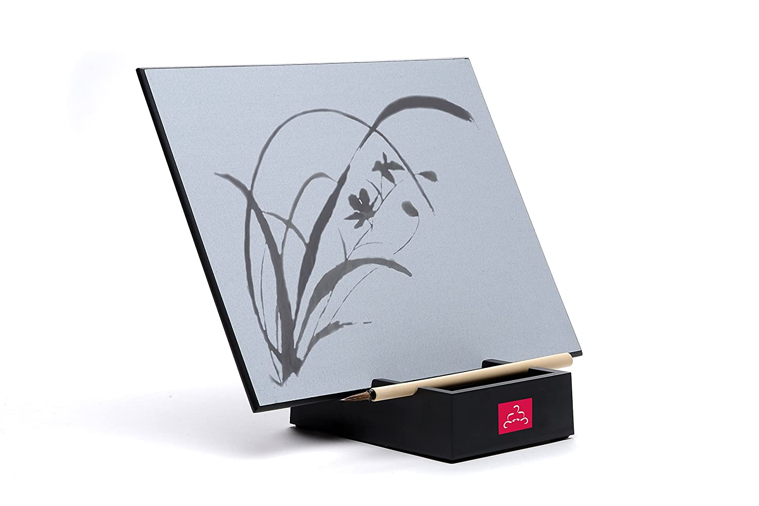 The original buddha boardrelaxing water painting with bamboo brush stand mindfulness meditation practice environmentally friendly zen concept