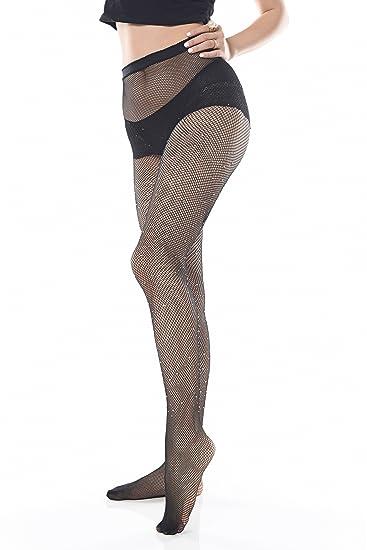 420dbd68e8e Lilyking Diamonds Fishnet Stockings Handmade Bling Rhinestone Elastic Tights  Small Mesh Pantyhose for Lady and Women at Amazon Women s Clothing store