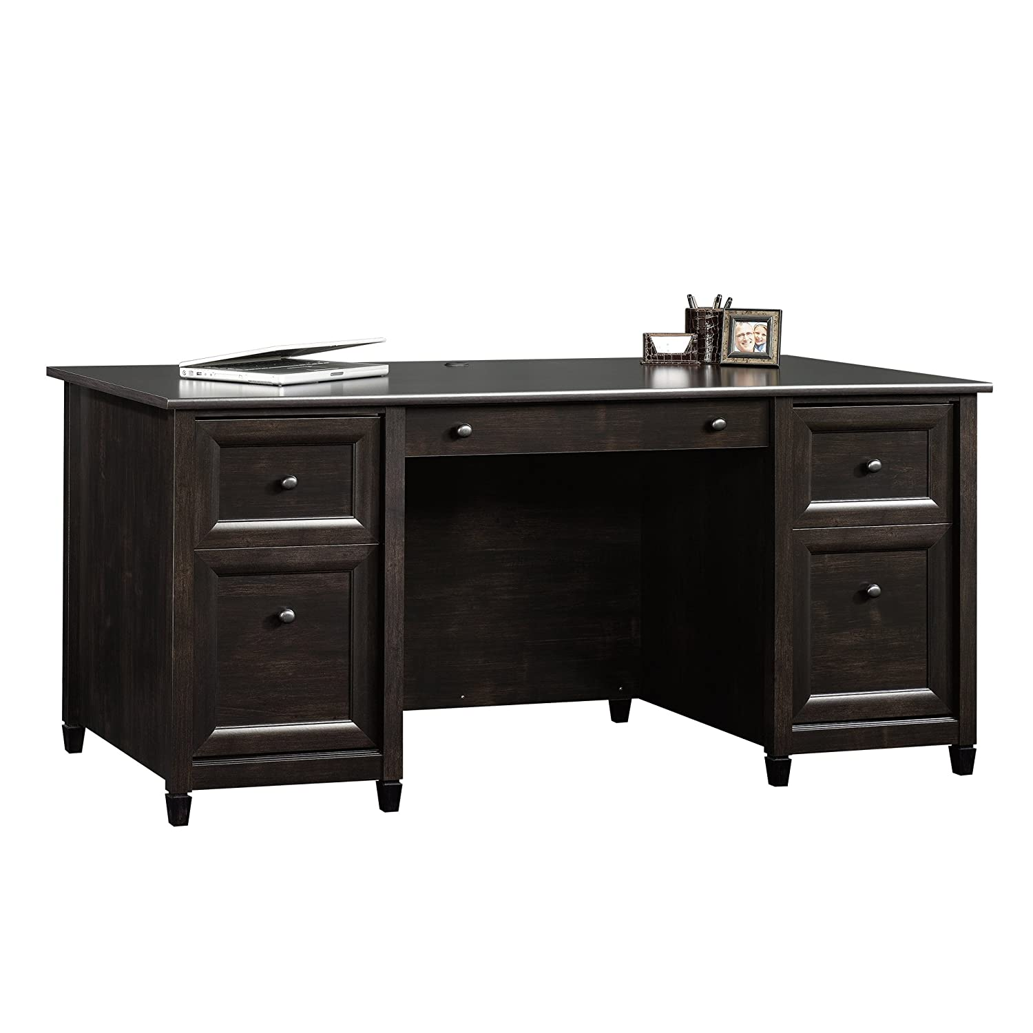 Sauder Palladia L Shaped Computer Desk In Select Cherry