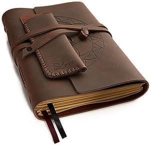 Brown Leather Journal Plain Paper Sketchbook &amp Giveaway
